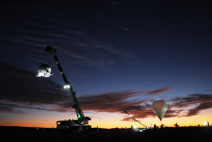 Image of the balloon launch