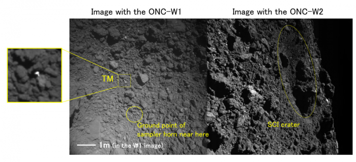 Images from the wide angle Optical Navigation Cameras (ONC-W1 and ONC-W2)(Images with added description:)