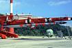 ランチャにセットされたL-4S-4号機(内之浦/東京大学鹿児島宇宙空間観測所)