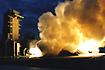 M-V第1段モータM-14燃焼試験(能代ロケット実験場)