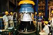M-Vノズル制御系のチェック(内之浦/宇宙科学研究所鹿児島宇宙空間観測所)