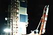 角度セットを終えたM-V-3号機(内之浦/宇宙科学研究所鹿児島宇宙空間観測所)