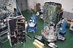 ASTRO-Eの組立て(相模原/宇宙科学研究所)