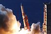 飛翔直後のM-V-4号機(内之浦/宇宙科学研究所鹿児島宇宙空間観測所)