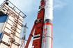 発射を待つM-V-5号機(内之浦/宇宙科学研究所鹿児島宇宙空間観測所)