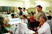 「ひので/SOLAR-B」プロトモデル試験チェックアウト室(相模原/JAXA宇宙科学研究本部)