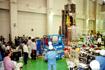 姿を現した「ひので/SOLAR-B」構造モデル(相模原/JAXA宇宙科学研究本部)