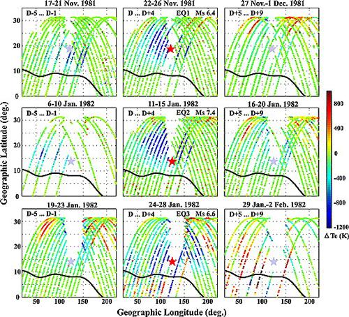 ISAS | 地震が電離圏に及ぼす影響を「ひのとり」のデータで研究 ...